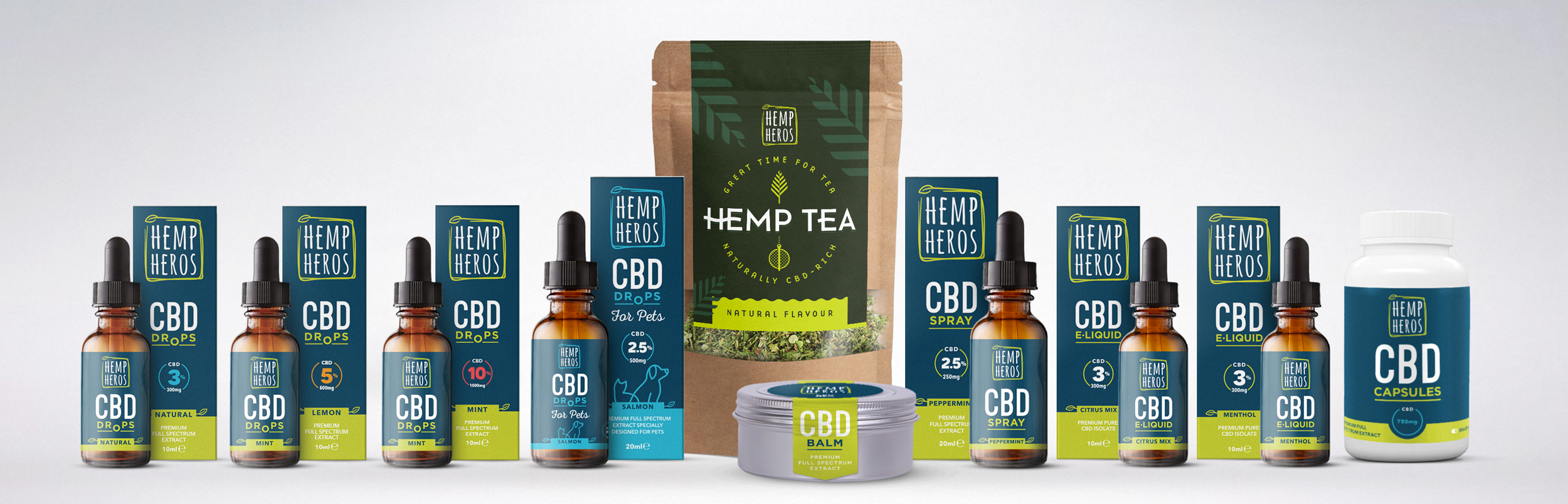 Hemp-Heros-Products lineup